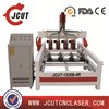 multi head wood 3D cnc router/4 axis cnc router/cnc carving machine with rotary JCUT-1325-2R(51/4X98.4X7.8inch)