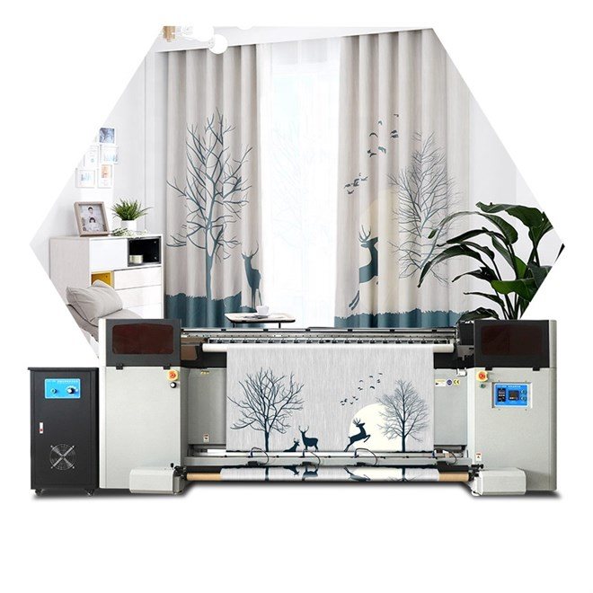 FORTUNE  2m Sublimation Flag Textile Printer With  Integrated heating and Automatic Cutting system
