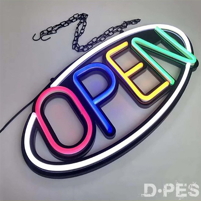 Customized LED Open Neon Signs led letter light sign